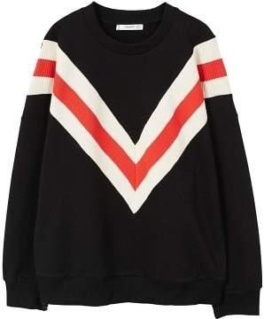 MANGO Striped oversize sweatshirt