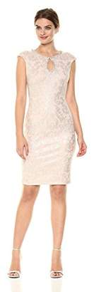 Jax Women's Keyhole Metallic Knit Sheath