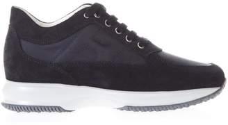 Hogan Interactive Blue Suede & Nylon Sneakers