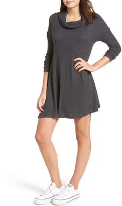 BP Rib Knit Cowl Neck Dress