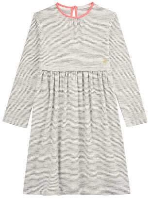 Mint Velvet Ivory Striped Jersey Dress