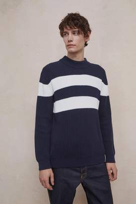 French Connenction Bold Stripe Turtle Neck Jumper