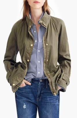 J.Crew Tie Waist Cotton Jacket