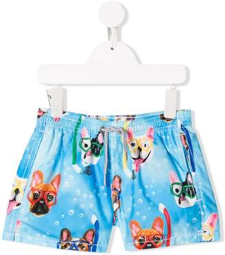 MC2 Saint Barth Kids snorkel print swim shorts