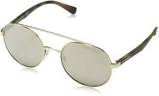 Emporio Armani EA2051 30135A Matte Pale EA2051 Round Sunglasses Lens Categ