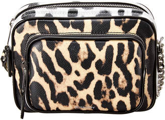 Burberry Small Animal Print Leather Camera Bag