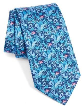 Men's Salvatore Ferragamo Tropical Print Silk Tie $190 thestylecure.com
