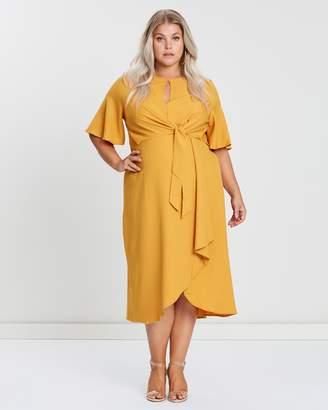 Tie Front Knot Midi Dress