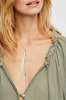 Serefina Glistening Delicate Feather Necklace