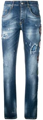 Frankie Morello multipatch distressed jeans