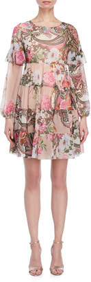 Blugirl Printed Ruffle Mini Dress