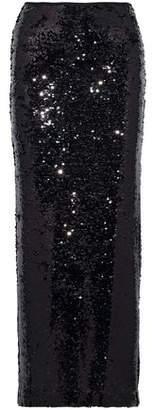 McQ Sequined Mesh Maxi Skirt