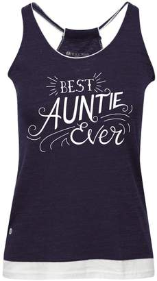 Colorology Best Auntie Ever Junior's Vintage Graphic Tank