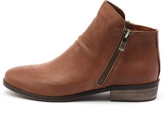 Django & Juliette Split Red Boots Womens Shoes Casual Ankle Boots
