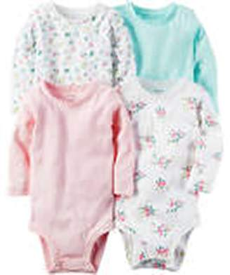 Carter's Baby Girls' 5-Pack L/S Bodysuits