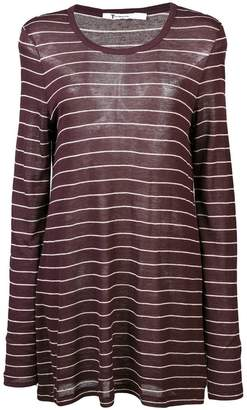 Alexander Wang striped longline jersey top