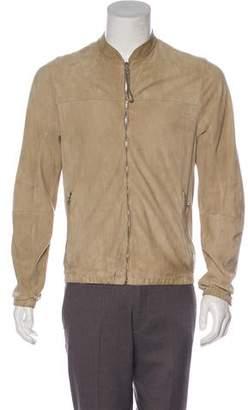 Prada Sport Suede Bomber Jacket