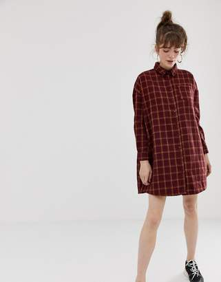 Daisy Street shirt dress in heavy flannel grid check
