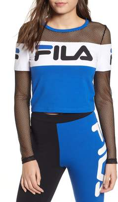 Fila Tara Long Sleeve Crop Tee