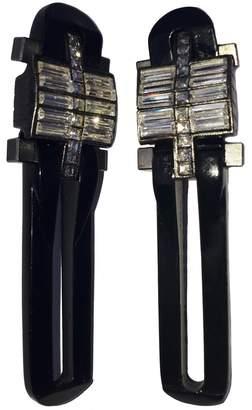 Lanvin Black Metal Earrings