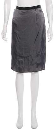 Lanvin Grosgrain-Accented Knee Length Skirt w/ Tags