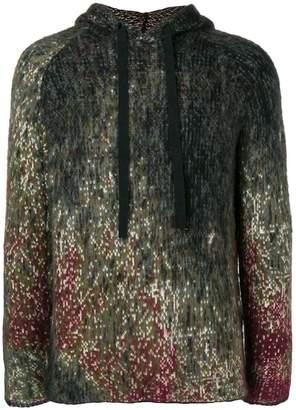 Federico Curradi raglan knitted hoodie