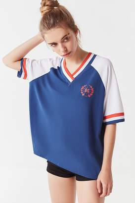 Urban Outfitters Colorblock Crest V-Neck Tee