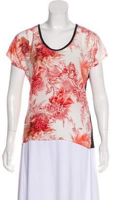 Barbara Bui Silk Floral Print Top