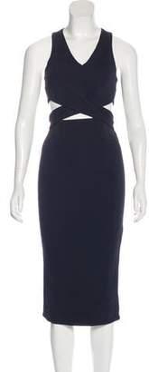 Nicholas Cutout-Accented Midi Dress