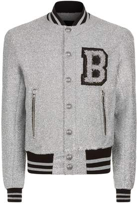 Balmain Metallic Varsity Jacket