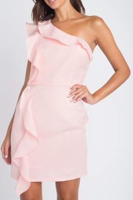 Minuet Asymmetric Ruffle Detail Dress