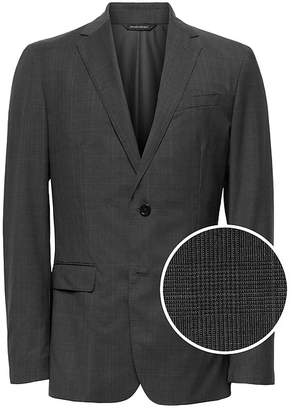 Banana Republic Standard Italian Wool Plaid Suit Jacket
