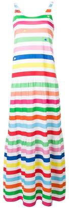 Mira Mikati long striped slogan dress
