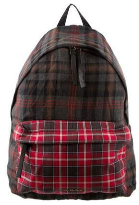 Givenchy Plaid Print Backpack