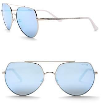 8d1bc9d6d GUESS 58mm Aviator Sunglasses