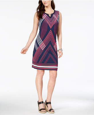 JM Collection Petite Embellished Keyhole Sheath Dress, Created for Macy's