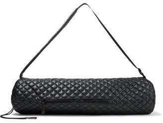 MZ Wallace Leather-trimmed Quilted Shell Yoga Mat Bag - Black