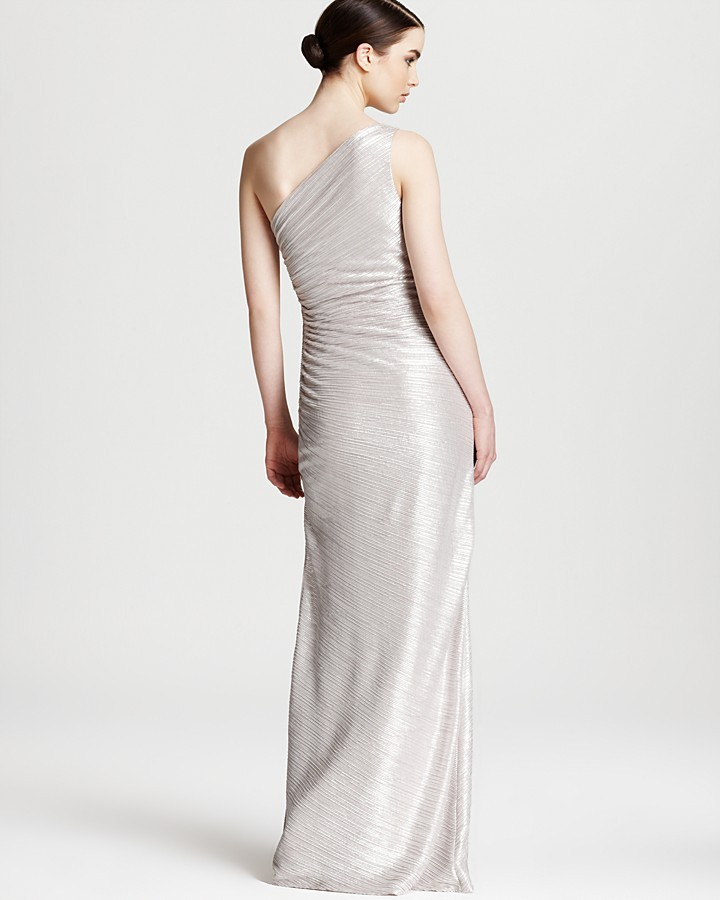 Shelli Segal Laundry by Petites Gown - One Shoulder Side Beaded