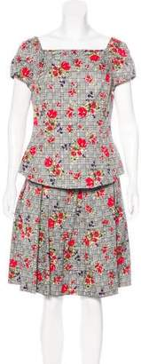 Oscar de la Renta Wool & Silk Knee-Length Dress