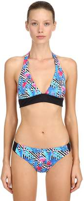 MC2 Saint Barth Diagonal Stripe & Floral Lycra Bikini