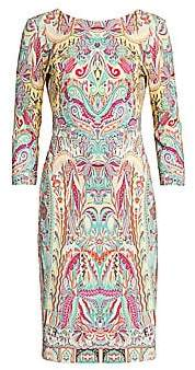 Etro Women's Paisley Jersey Sheath Dress