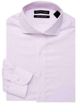 Saks Fifth Avenue Slim-Fit Windowpane Dress Shirt