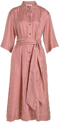Diane von Furstenberg 3/4 Sleeve Belted Shirt Dress
