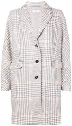 Peserico checked single breasted coat