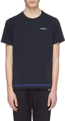 Particle Fever Logo jacquard hem performance T-shirt