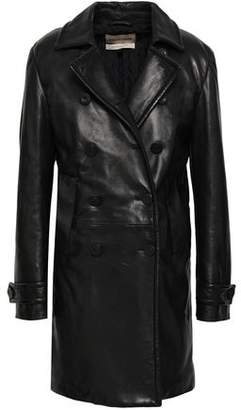 Roberto Cavalli Double-breasted Leather Coat
