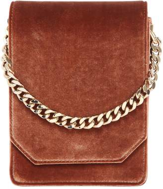 Bellows Velvet Shoulder Bag