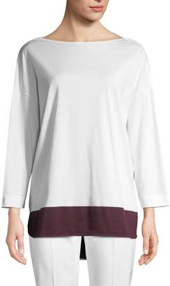 Piazza Sempione Women's Colorblocked Cotton T-Shirt