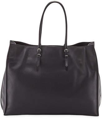 Balenciaga Papier A4 Zip Leather Tote Bag, Black