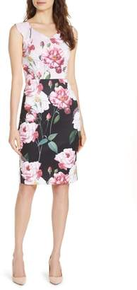 Ted Baker Saafi Iguza Two Tone Sheath Dress
